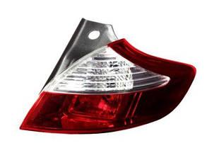 Правый задний фонарь Рено Меган 08-15, внешний, кузов HB, без ламп / RENAULT MEGANE (2008-2015)