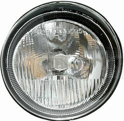 Левая фара противотуманная Рено Кенгу I 97-03 под лампу h1 (без рамки/косая) без лампы / RENAULT KANGOO I (1997-2009)
