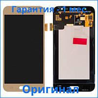 Original дисплей Samsung J500F/DS Galaxy J5 золотистый (LCD экран, тачскрин, стекло в сборе), Original дисплей Samsung J500F / DS Galaxy J5 золотистий