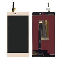 Дисплей для Xiaomi Redmi 3 Pro золотистый (LCD экран, тачскрин, стекло в сборе), Дисплей Xiaomi Redmi 3 Pro золотистий (LCD екран, тачскрін, скло в