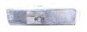 Левый указатель поворота Вольксваген Жетта II в бампере белый год 1990-92 без патрона / VOLKSWAGEN JETTA II (1984-1992)