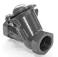 Клапан обратный канализационный чугунный муфтовый Ду40 Ру16