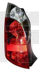 Левый задний фонарь Чери Кимо красно-белый без патронов / CHERY KIMO (2006-2013)