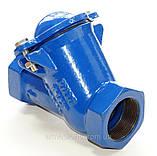 Клапан обратный канализационный чугунный муфтовый арт. BCV-16M (C302) Ду50 Ру16, фото 2