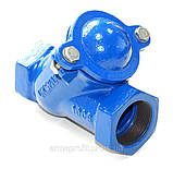 Клапан обратный канализационный чугунный муфтовый арт. BCV-16M (C302) Ду50 Ру16, фото 4