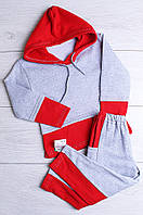 Спортивный костюм теплый красный AAA 931