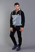 Костюм спортивный мужской из трехнитки с начесом с капюшоном (К28903), фото 1