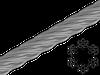 Трос 3 мм 6х7+1FC ЦБ