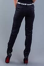 """Вельветовые женские брюки """"Felicia"""" с карманами и поясом, фото 3"""