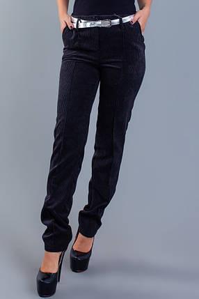 """Вельветовые женские брюки """"Felicia"""" с карманами и поясом, фото 2"""