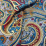 Встреча 1718-11, павлопосадский платок хлопковый (батистовый) с швом зиг-заг, фото 7