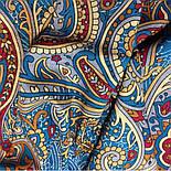Встреча 1718-11, павлопосадский платок хлопковый (батистовый) с швом зиг-заг, фото 8