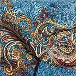 Встреча 1718-11, павлопосадский платок хлопковый (батистовый) с швом зиг-заг, фото 10