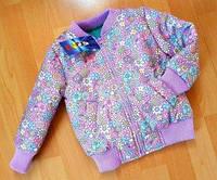 """Детская куртка, бомпер """"Цветы"""" от 86 по 104р"""