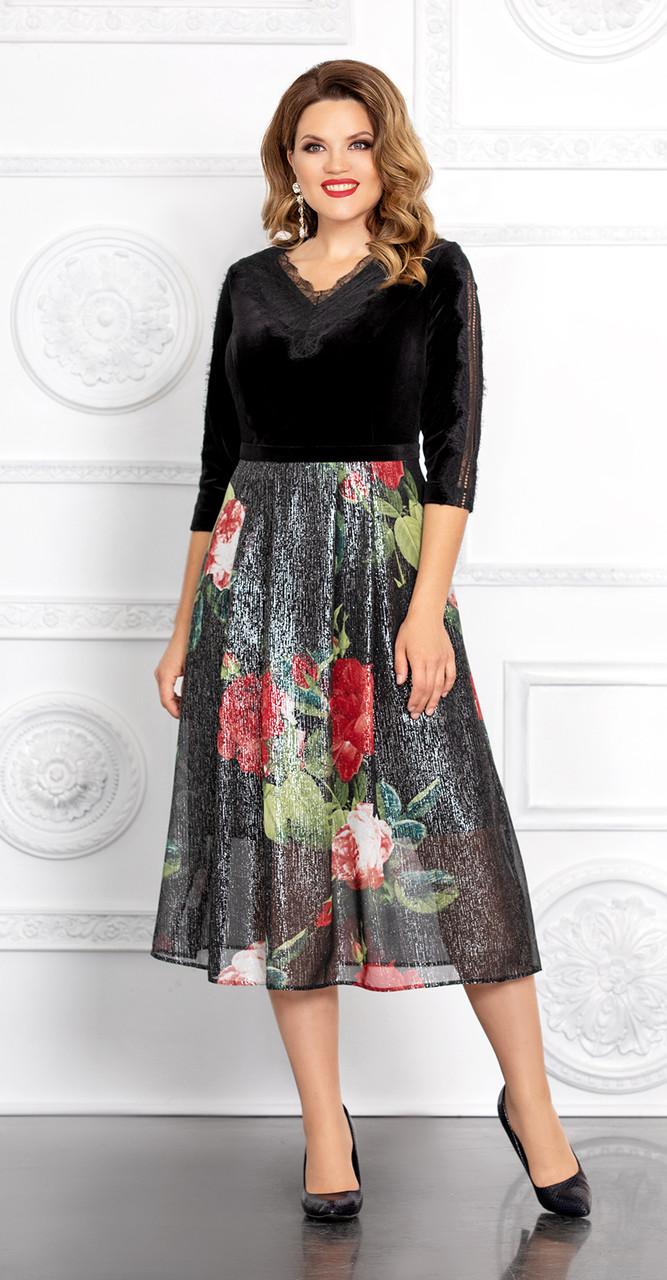 Платье Mira Fashion-4686 белорусский трикотаж, черный, 50