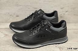 Мужские кожаные кроссовки Ecco (Реплика)  (188 чер) ► Размеры [40,41,42,43,44,45]