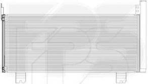 Радиатор кондиционера Лексус RX 09- / LEXUS RX (2009-)