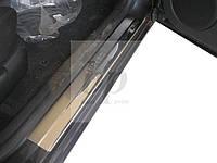 Защитные хром накладки на пороги Skoda superb I (шкода суперб 2001-2008)