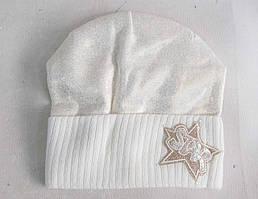 Детские шапки для девочек на флисе (3-15 лет) шерсть+акрил оптом со склада в Одессе.