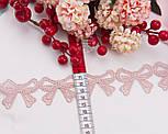 """Кружево с шелковой нитью """"Бантики"""", цвет пыльная роза, ширина 45 мм, фото 2"""