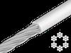 Трос 2/3 мм ПВХ прозор 6х7+1FC