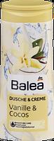 Крем гель для душа Balea Dusche & Creme Vanille & Cocos-Ваниль и кокос