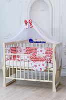 Комплект детского постельного белья в кроватку для новорожденных