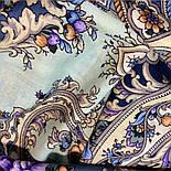 Таинственный образ 1782-61, павлопосадский платок шерстяной с шелковой бахромой, фото 6