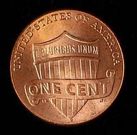 Монета США 1 цент 2016 г.