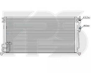 Радиатор кондиционера Митсубиши Ланцер VIII 98-03 / MITSUBISHI LANCER VIII (1996-2003)