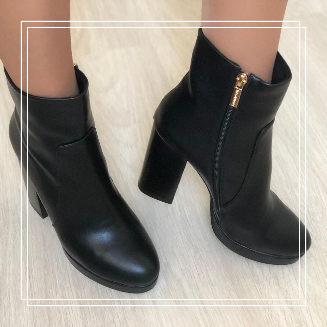Женские демисезонные ботинки кожа AB 217