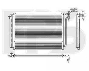 Радиатор кондиционера БМВ X5 (E53) 00-06 / BMW X5 E53 (1999-2007)