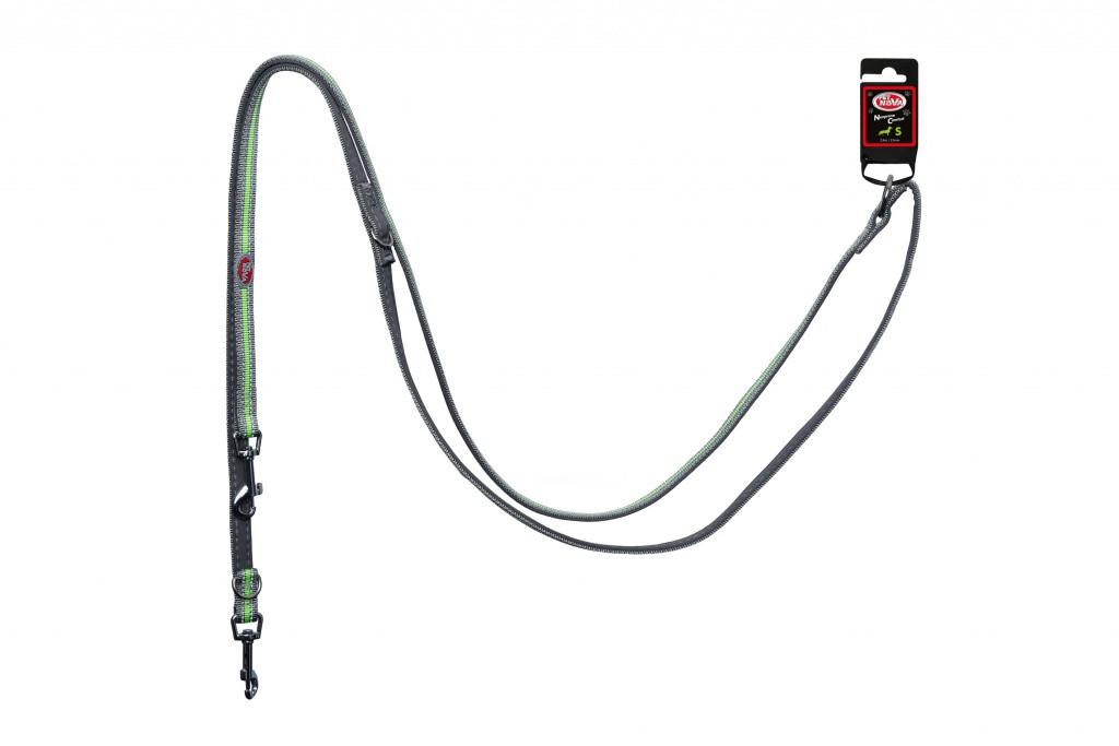 Поводок Pet Nova Adjust S 1.5 х 240 см Серый (с отражателем)