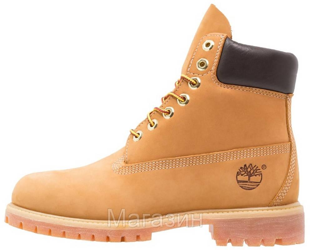 Мужские зимние ботинки Timberland 6-Inch Premium Winter Yellow зимние Тимберленд С НАТУРАЛЬНЫМ МЕХОМ желтые