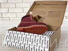 Женские зимние ботинки Timberland Winter Burgundy зима Тимберленды С МЕХОМ бордовые , фото 3