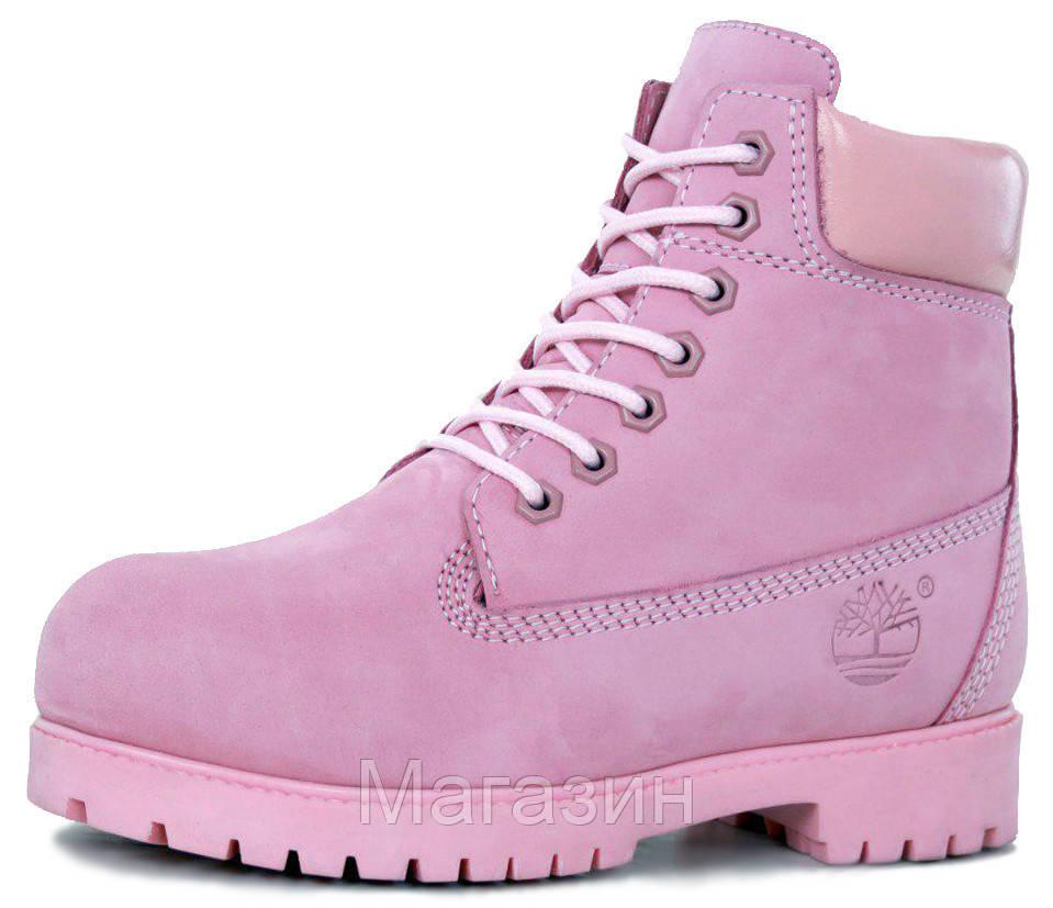 Женские зимние ботинки Timberland Winter Pink зима Тимберленды С НАТУРАЛЬНЫМ МЕХОМ розовые