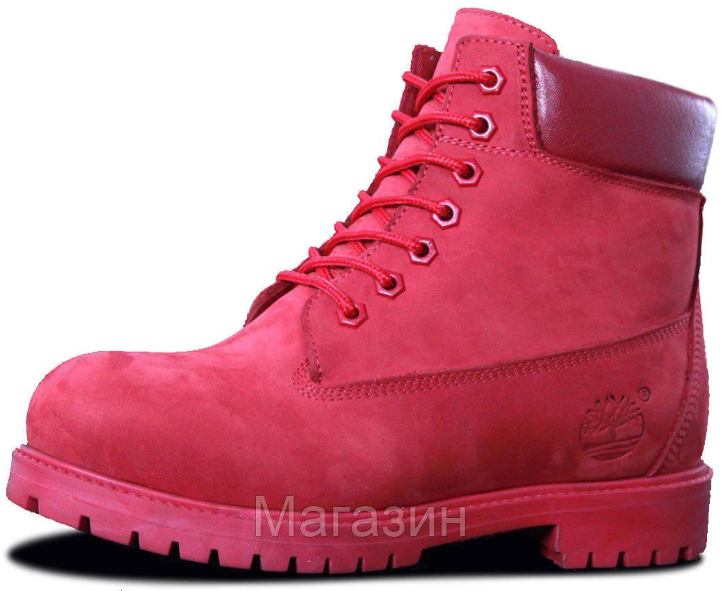 Женские зимние ботинки Timberland Winter Red зима Тимберленды С МЕХОМ красные