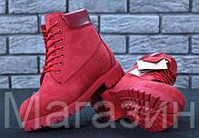 Женские зимние ботинки Timberland Winter Red зима Тимберленды С МЕХОМ красные, фото 3