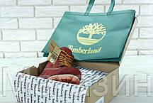 Женские зимние ботинки Timberland Winter Burgundy зима Тимберленды С НАТУРАЛЬНЫМ МЕХОМ бордовые, фото 3