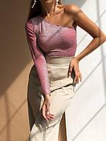 Женский модный топ на одно плечо  МВ456, фото 1