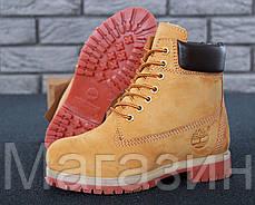 Женские зимние ботинки Timberland 6 Winter Boots Yellow зимние Тимберленд С МЕХОМ желтые, фото 3
