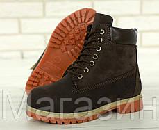Женские зимние ботинки Timberland 6 Winter Boots Brown зимние Тимберленд С МЕХОМ коричневые, фото 2