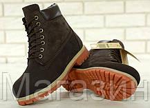 Женские зимние ботинки Timberland 6 Winter Boots Brown зимние Тимберленд С МЕХОМ коричневые, фото 3
