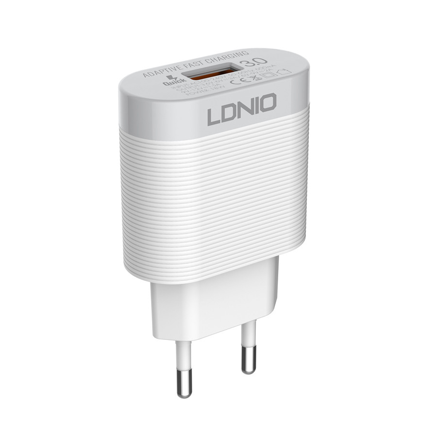 Сетевое зарядное устройство LDNIO A303Q, 3A, Quick Charge 3.0 (без кабеля)