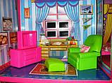 ✅Ляльковий будиночок 6983 з меблями, 2 поверхи та 6 кімнат, 108*93*37 см, фото 10