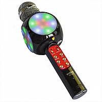 Беспроводной караоке микрофон WSTER WS-1816 USB AUX FM Черный 200192, КОД: 395840