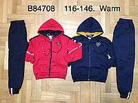 Спортивный утепленный костюм 2 в 1 для мальчика оптом, Grace, 116-146 см,  № B84708, фото 1