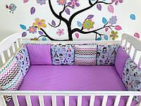 Бортики в детскую кроватку защита для новорожденного ребенка хлопок