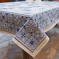 Скатерть гобеленовая Villa Grazia Premium Лавандовые изразцы 140х140 см