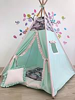 Детская игровая палатка (вигвам) «Мэш»с ковриком и подушечкой